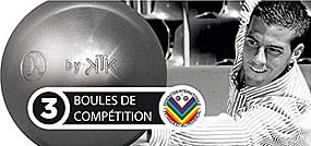 La boule du Champion du Monde Dylan ROCHER : Dylan ROCHER Inox by KTK