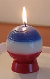 Des bougies en forme de boules de pétanque