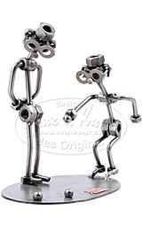 Sculpture métallique joueurs de pétanque